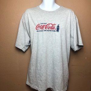 VTG Coca Cola Gray Short Sleeve T Shirt 26W/28W